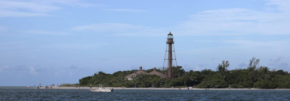 Sanibel Lighthouse from the bay