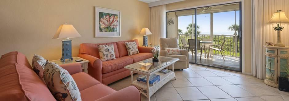 Gulf Beach 106, Living room