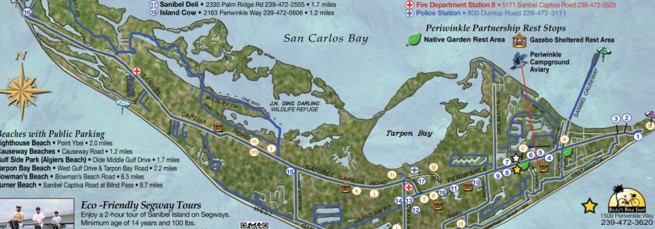 Sanibel Bike map