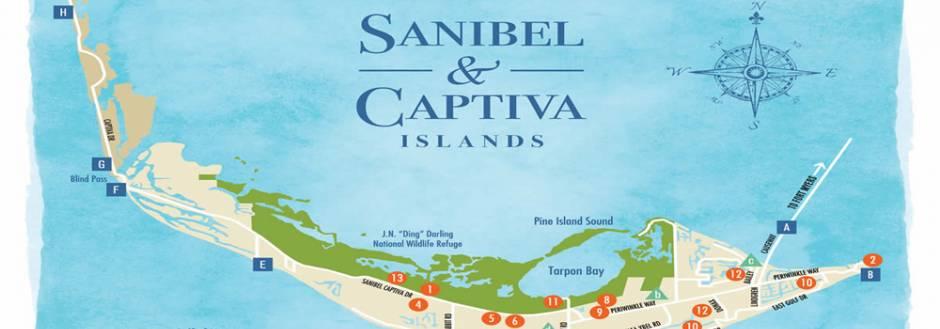 Sanibel Beach Map