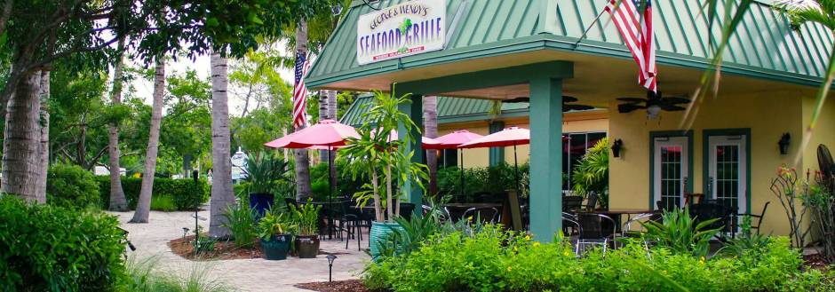 George and Wendy's Seafood Grille outdoor seating