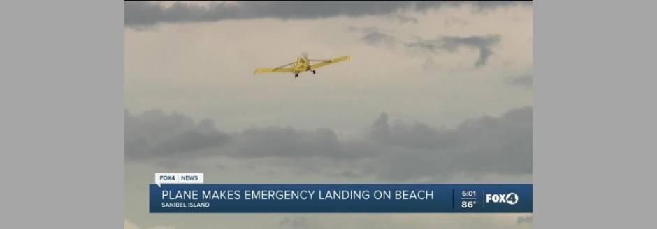 Plane on the beach, news feed