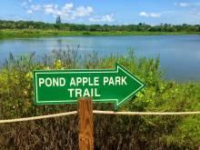 Pond Apple Trail sign