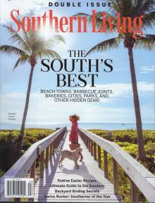 Southern Living Magazine cover March 2021