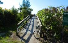 Sanibel Bikes in front of Beach path