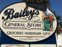 Bailey's General store sign