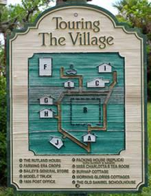 Sanibel's Historic Village map