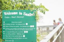 Welcome to Sanibel Beach sign