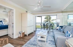 Sanibel Surfside 123 living room and view