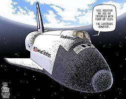 Love bug cartoon on space ship