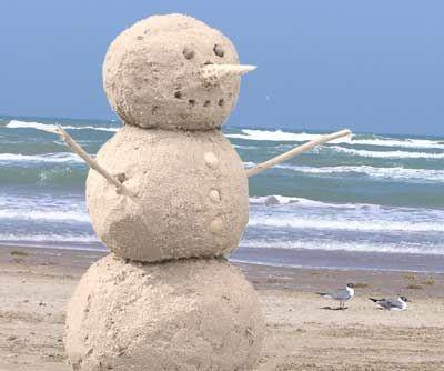 """Beach """"Snowman"""""""