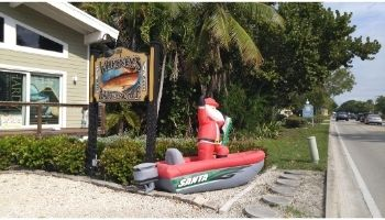 Santa's into Florida sport fishing at Whitney's Bait and Tackle
